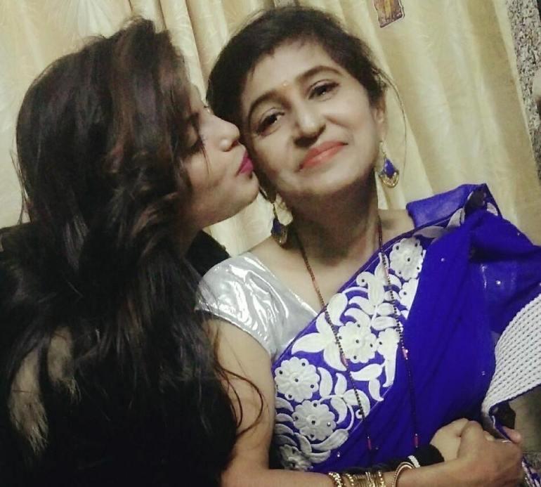Divya Burman With Her Mother