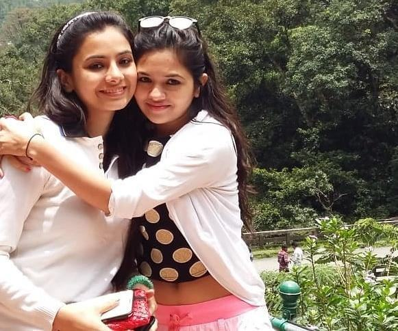 Deblina Chatterjee with Her Younger Sister