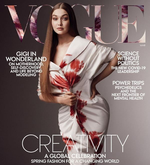 Gigi on Magazine Cover
