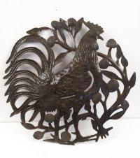 Haitian Steel Drum Art Big Cock Rooster Art Haitian Metal ...