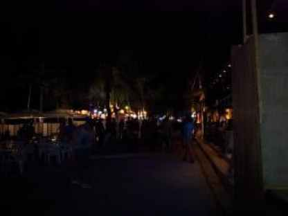 At night White Beach becomes a strip of beach bars