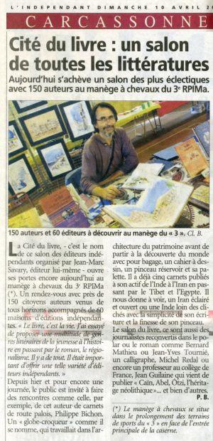 L'Indépendant Carcassonne (11) Avril 2011