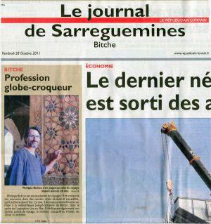 Le Républicain Lorrain Bitche (57) Octobre 2011