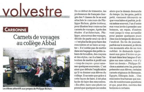 La Dépêche du Midi Carbonne (31) Février 2013