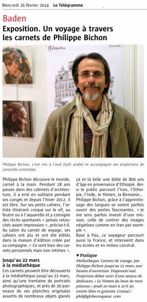 Le Télégramme Baden (56) Février 2014