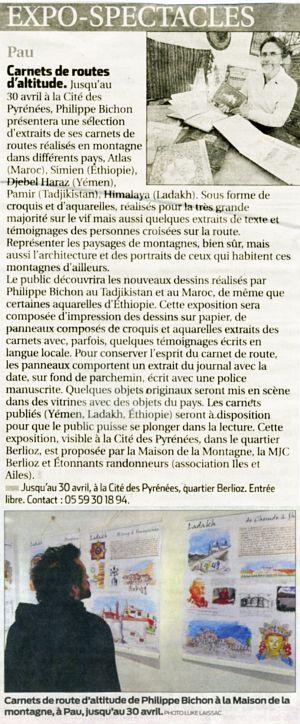 Sud Ouest Pau (64) Mars 2015