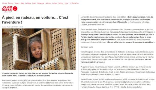 Ouest France Nantes (44) Juin 2016