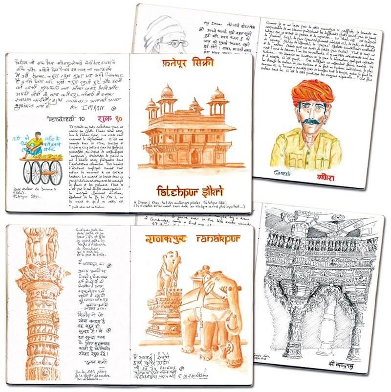 Carnet de route Inde Rajasthan 4 pages
