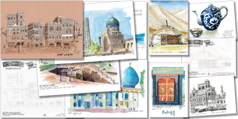 présentation cartes postales