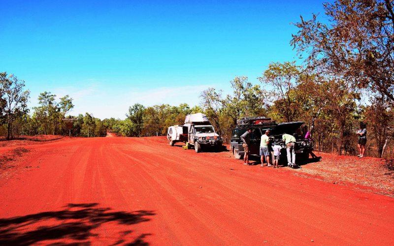 Piste 4x4 dans le désert du Nord de l'Australie.