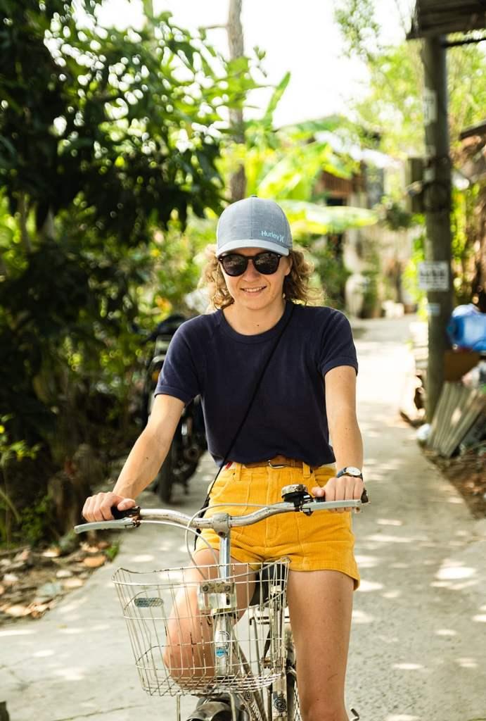 Se promener à vélo dans le delta du mékong