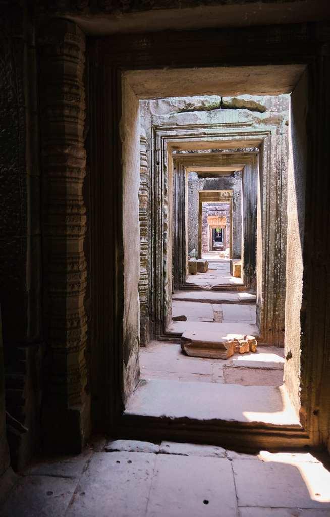 Intérieur des temples d'Angkor