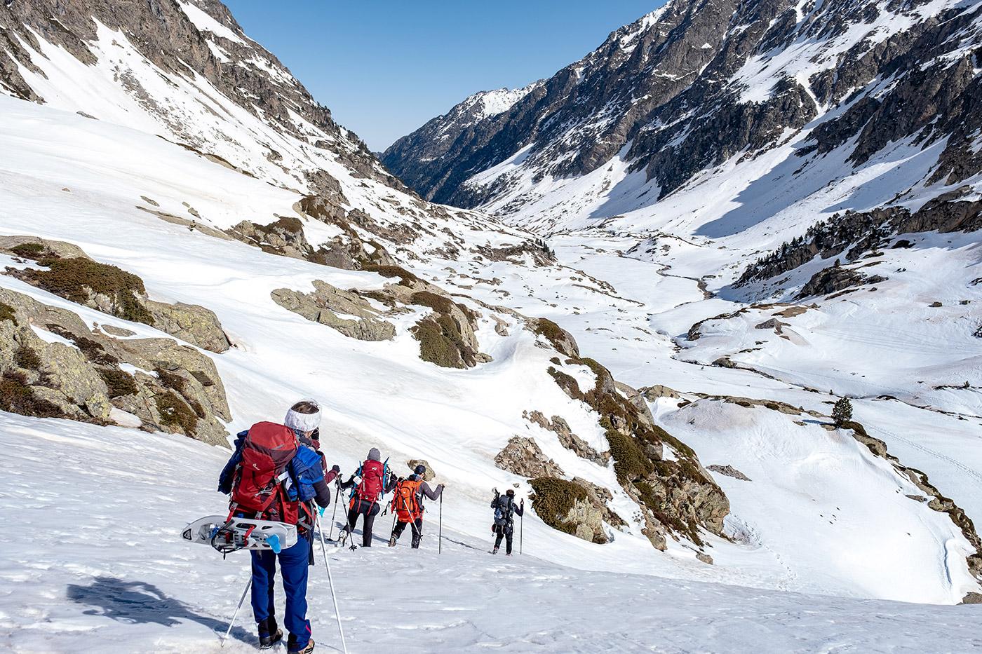 Randonnée au refuge des oulettes de gaube neige
