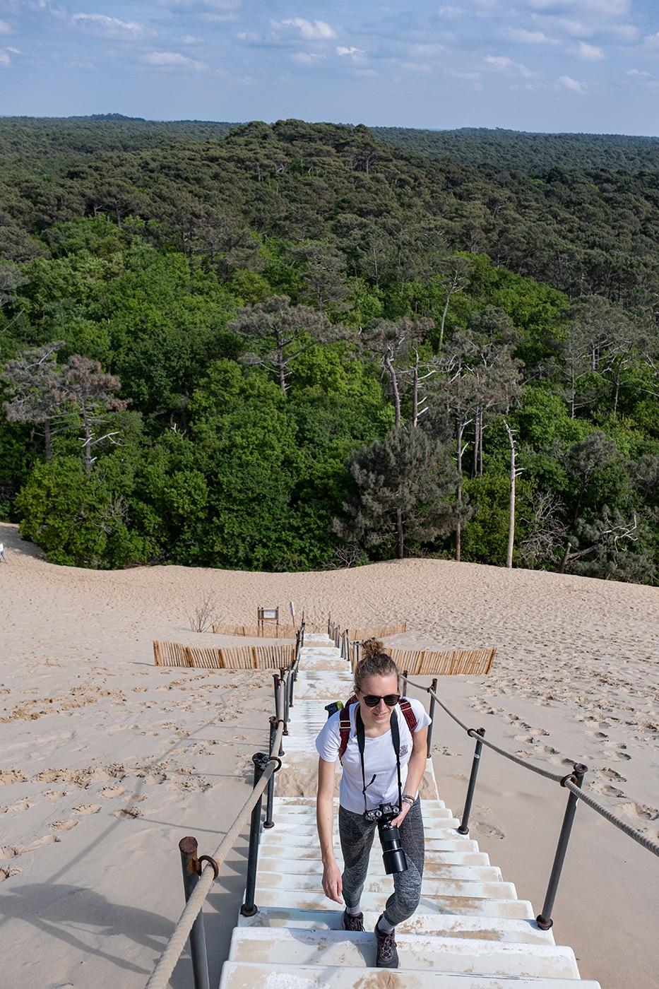 Escalier de la dune du pilat
