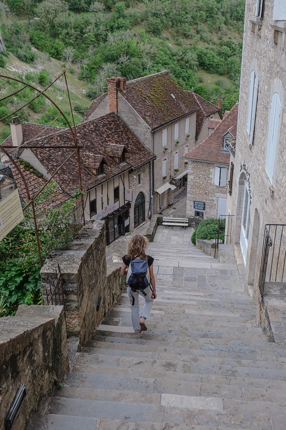 Escalier des Pélerins Rocamadour