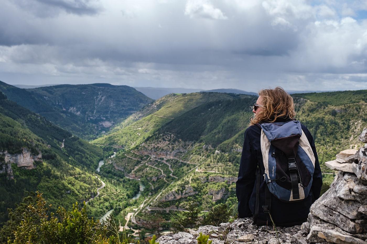 Vue des gorges du Tarn depuis le causse de Sauveterre