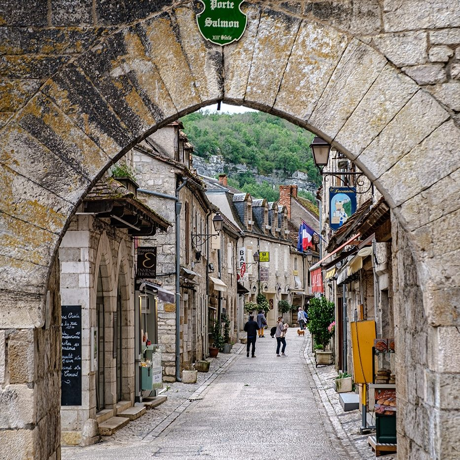 Porte Salomon à Rocamadour dans le Lot
