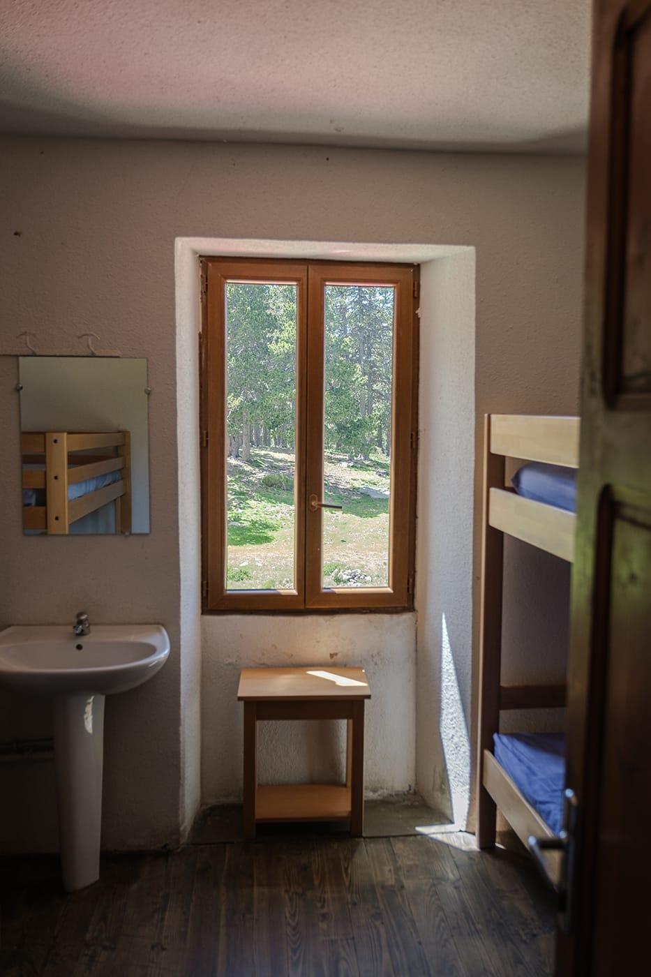 Chambre au refuge des Cortalets