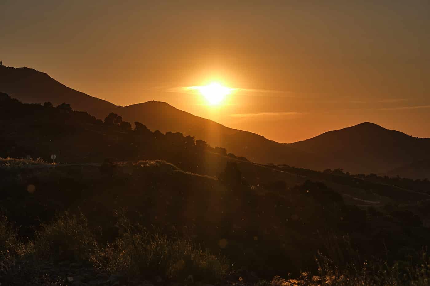 Cote Vermeille au coucher du soleil