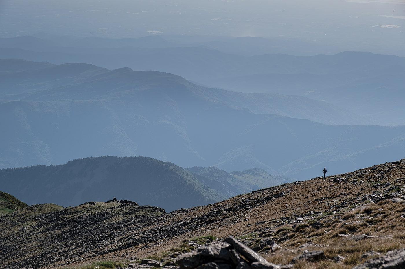 Retour du Canigou paysage magnifique sur less Pyrénées Orientales