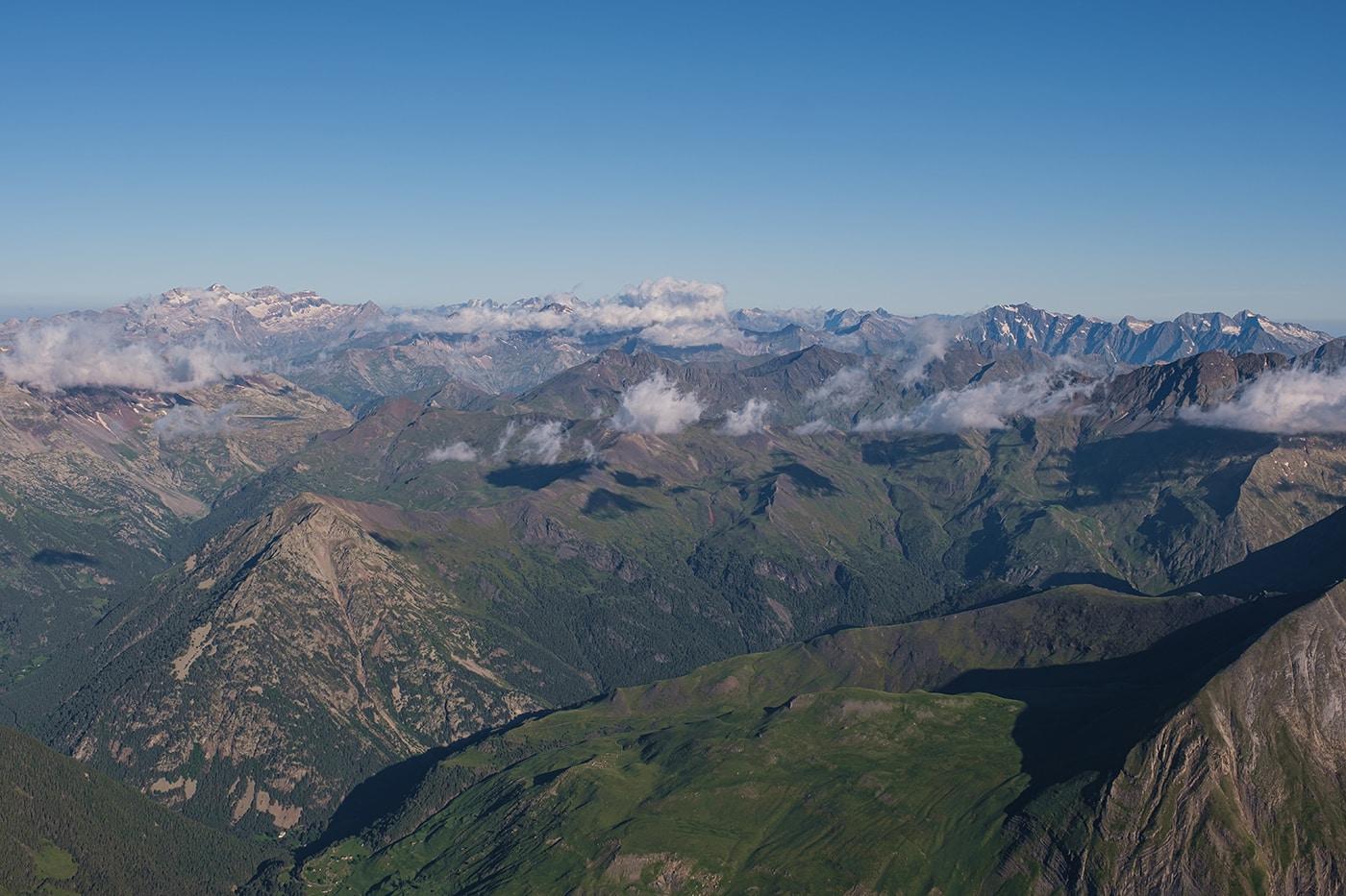 Panorama depuis le sommet des Posets