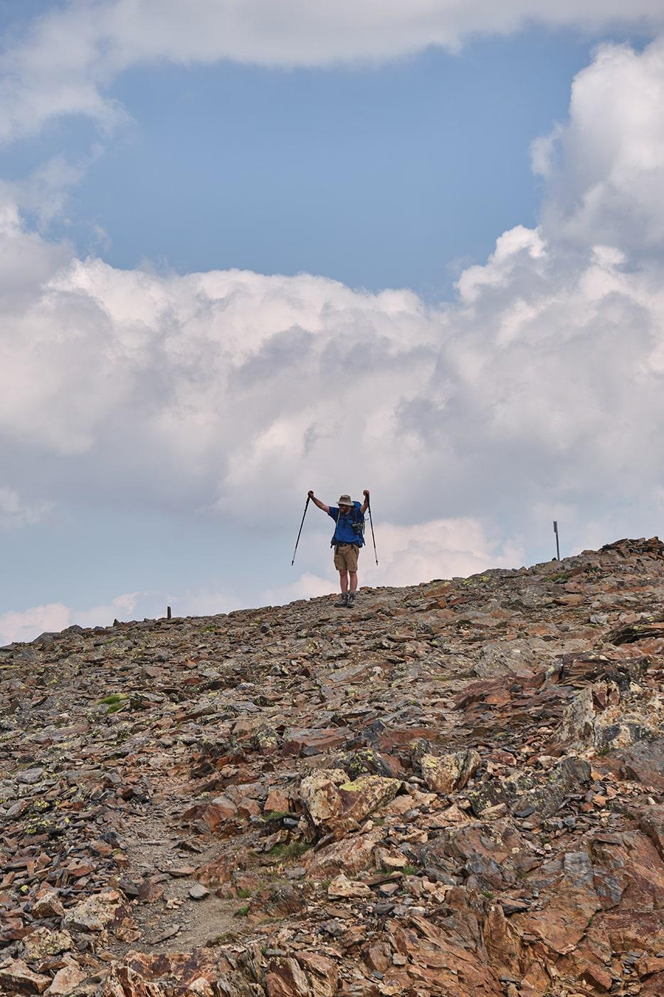 Arrivée au sommet du pic du Montcalm