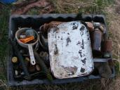 old medicine bottles, pipes..