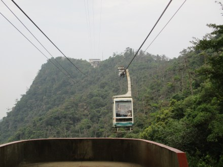 Second half of the ropeway was a larger car