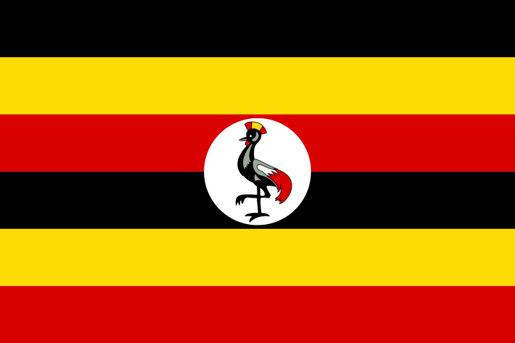 This is the official flag of Uganda. (Image Credit: Wikimedia Commons)