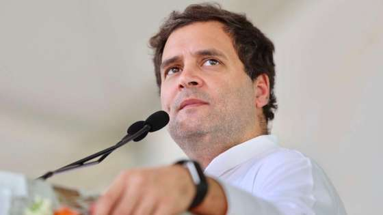 Indian National Congress leader Rahul Gandhi speaks at an event in the state of Karnataka on April 4, 2018. (Image Credit: Sidheeq/Wikimedia Commons)
