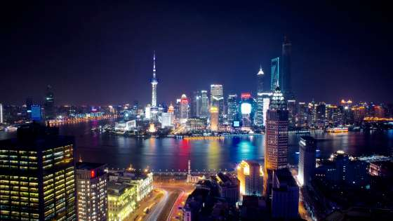 The Shanghai skyline at night. (Image Credit: Ryo/Flickr)