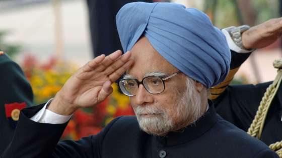 Then-Indian Prime Minister Manmohan Singh salutes soldiers at India's Republic Day Parade in New Delhi on January 26, 2008. (Image Credit: Government of India)