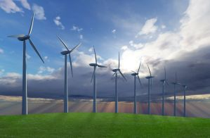 produkcja energii z wiatru, wiatrak, turbina wiatrowa,