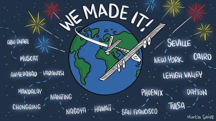 Grafika przedstawiająca trasę Solar Impulse 2, źródło: solarimpulse.com