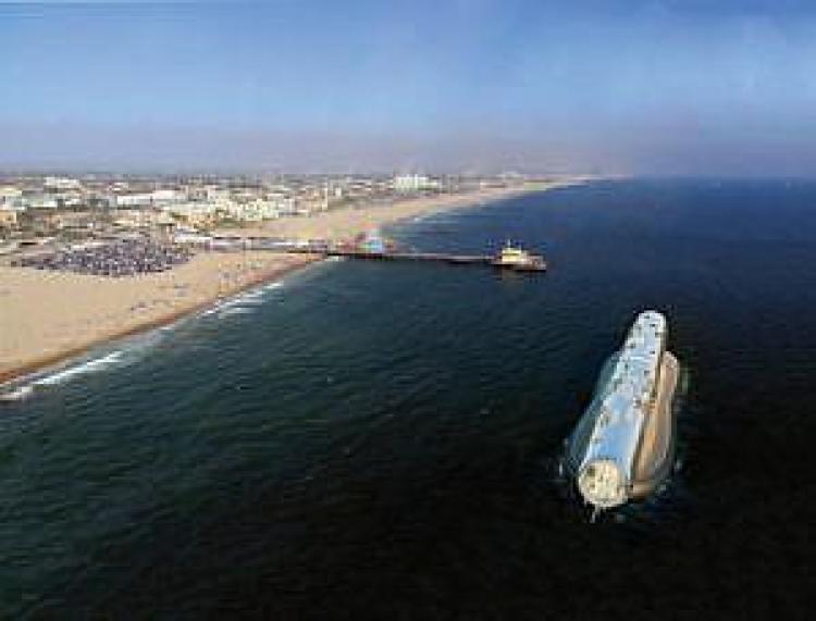 rura odsalająca u wybrzeża Kalifornii