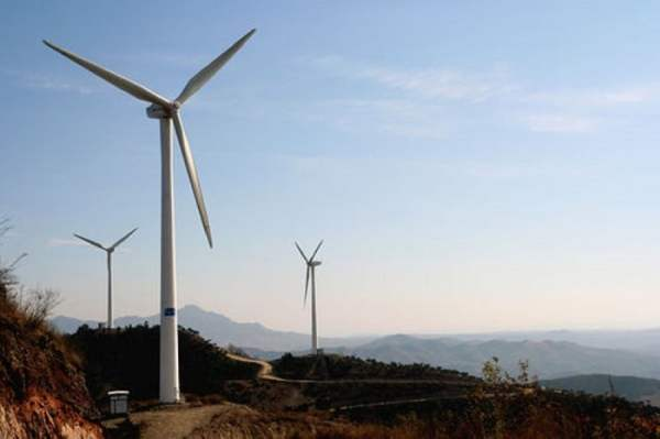 farma wiatrowa w Tangshan