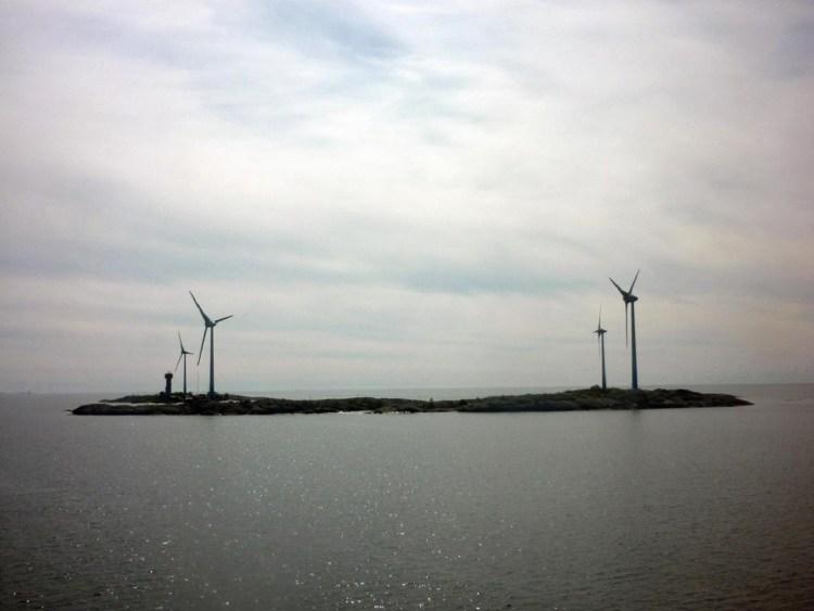 turbiny wiatrowe na wyspie Mariahamn, Szwecja