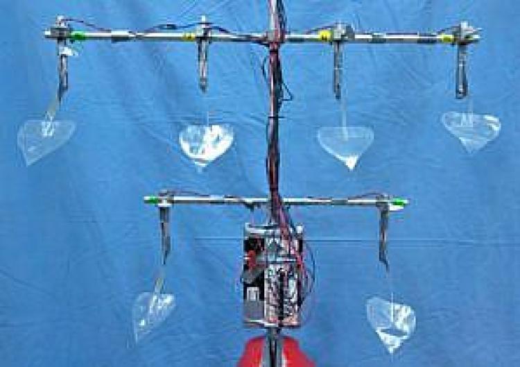 urządzenie w kształcie drzewa generujące prąd