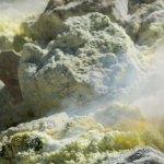 Cratère du Stromboli, vapeur de soufre