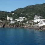 Ile Stromboli, village de Ginostra, accessible qu'en bateau