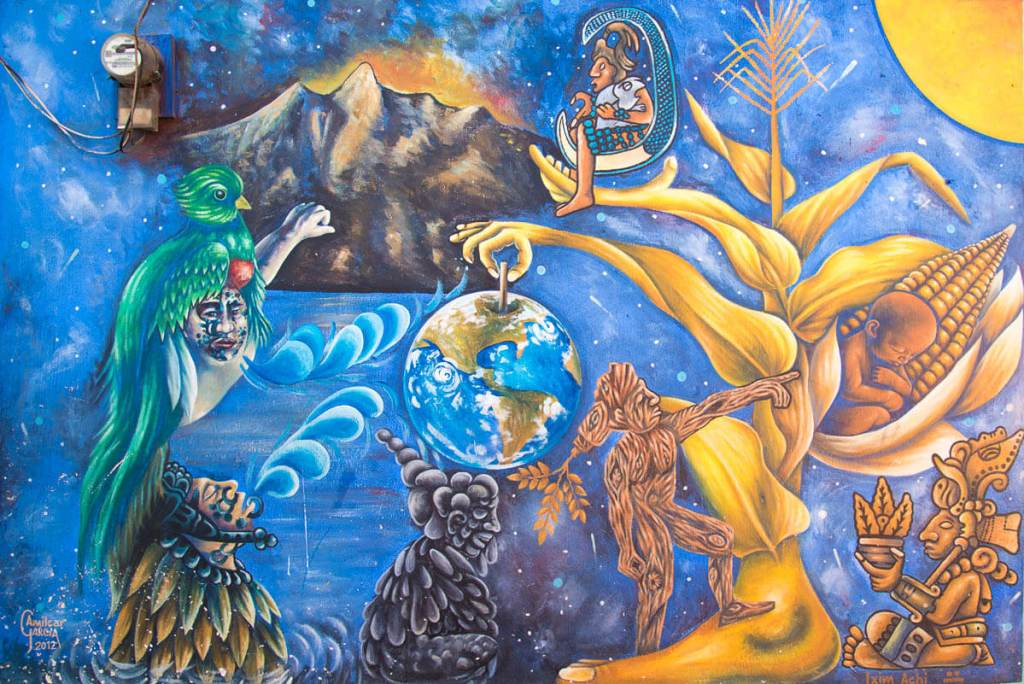 Guatemala - San Juan de la Laguna - peinture maya