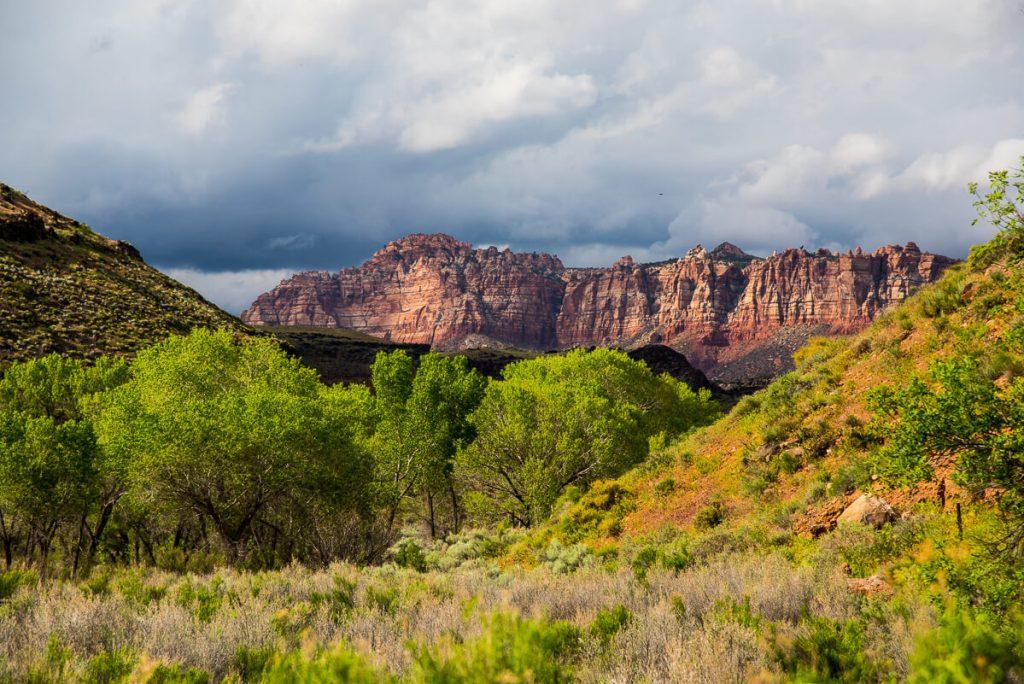 Ciel orageux aux environs de Zion National Park