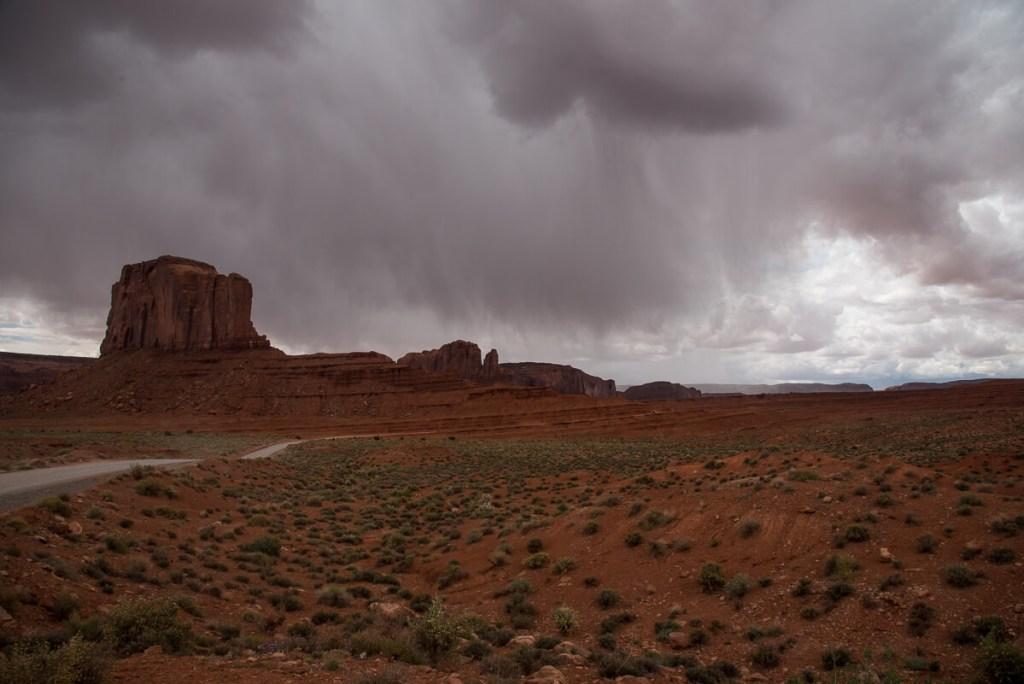 Orage à Monument Valley