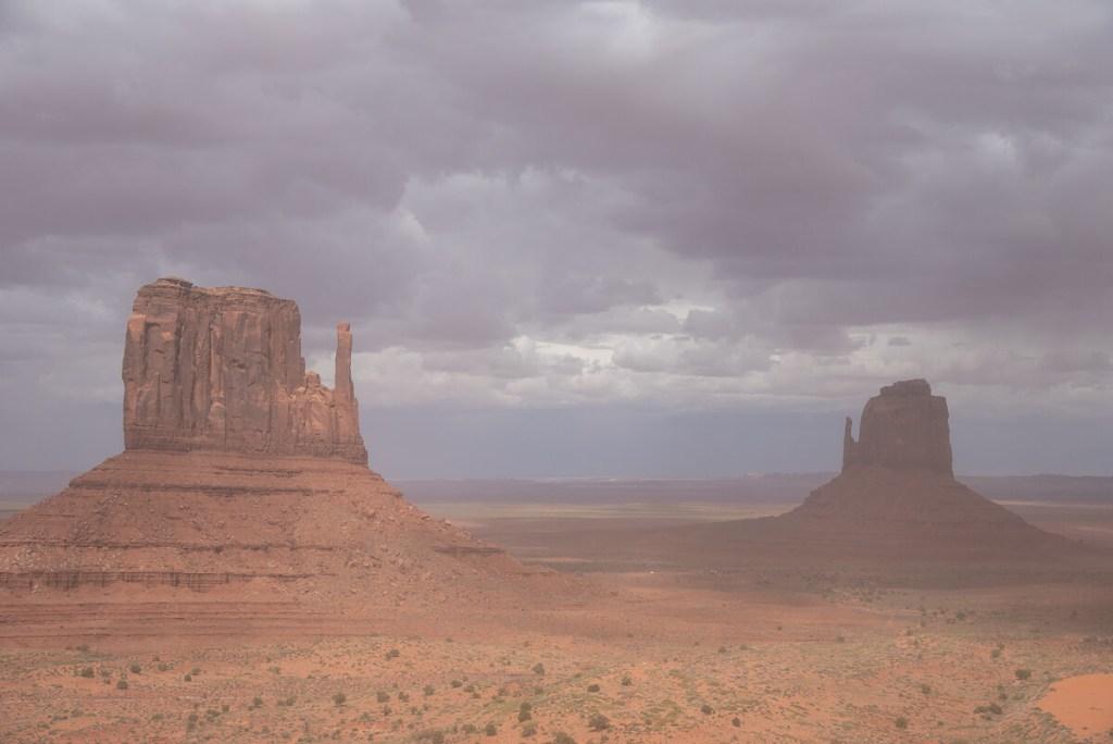 Tempête de sable àMonument Valley