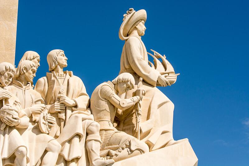 Lisbonne - Belem, détail du monument aux découvertes
