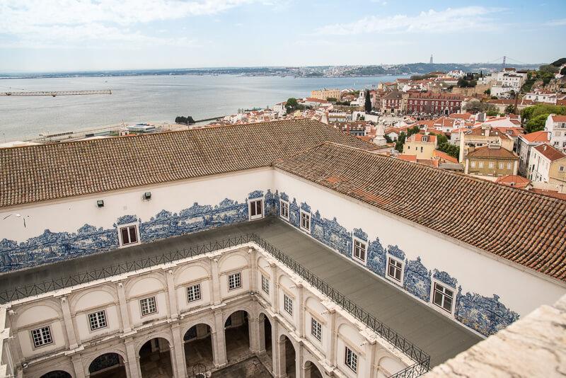 Lisbonne - vue depuis la terrasse du musée des azulejos