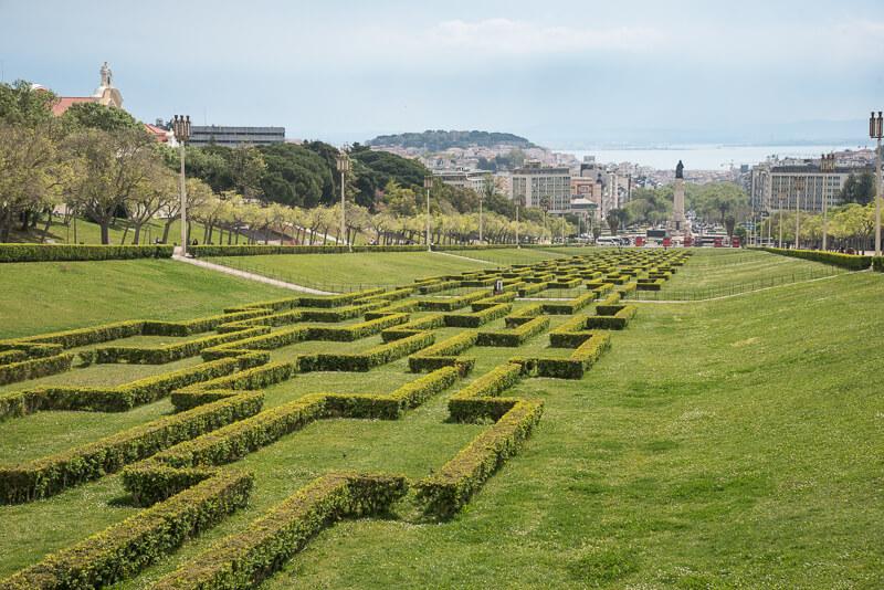 Lisbonne - le parc Edouard VII