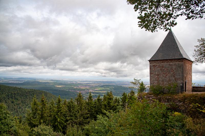 Chapelle et vue depuis le mont Saint Odile