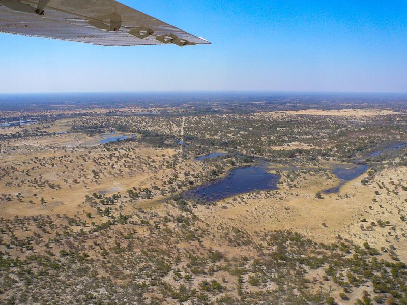 Afrique australe, Botswana - Le delta de l'Okavango vu d'avion