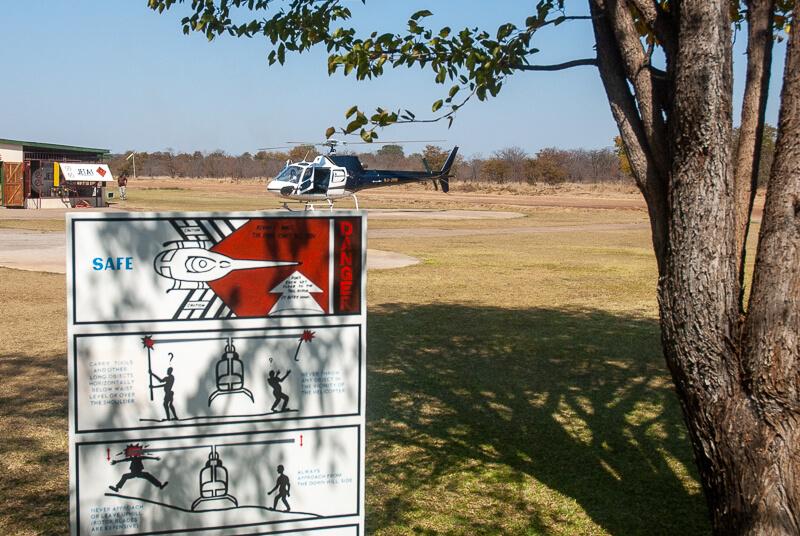Afrique australe - Zambie, on tente l'hélico pour mieux profiter des chutes